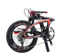 Outdoor folding bicycle 20 inch mini carbon frame folding bike 9 speed portable bicycle