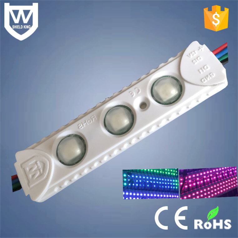 3 chips 5050 SMD led injection module12V with 3M Full color waterproof led rgb module with CE & RoHs