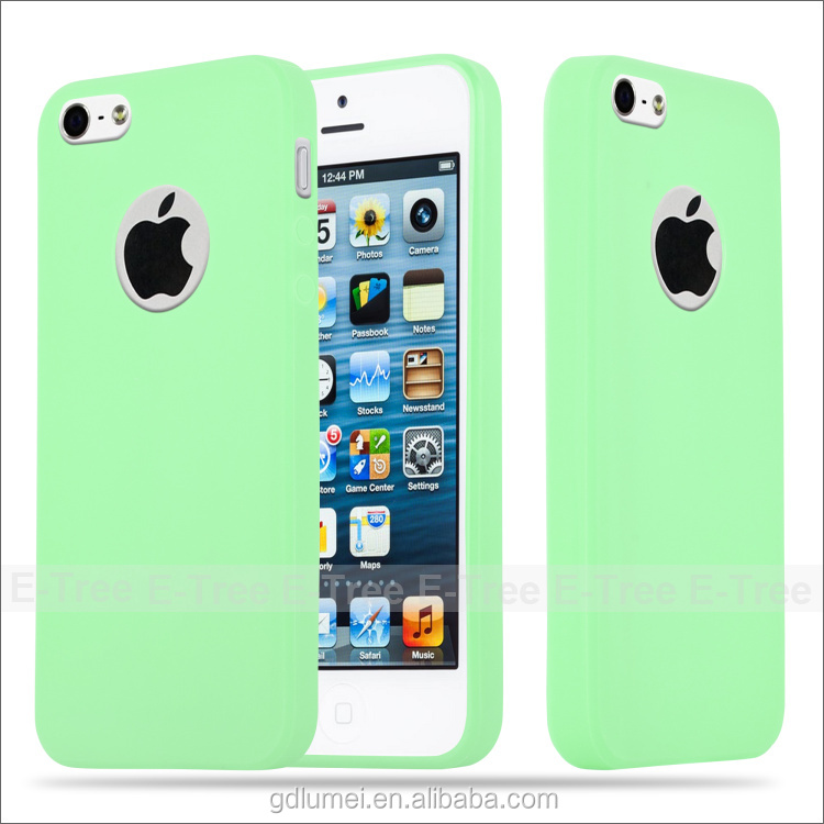 New Arrival Fancy Candy Color TPU Silicon Front and Back Cover for iPhone 5