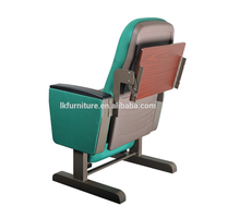 Auditorium chair plastic folding chair with writing pad
