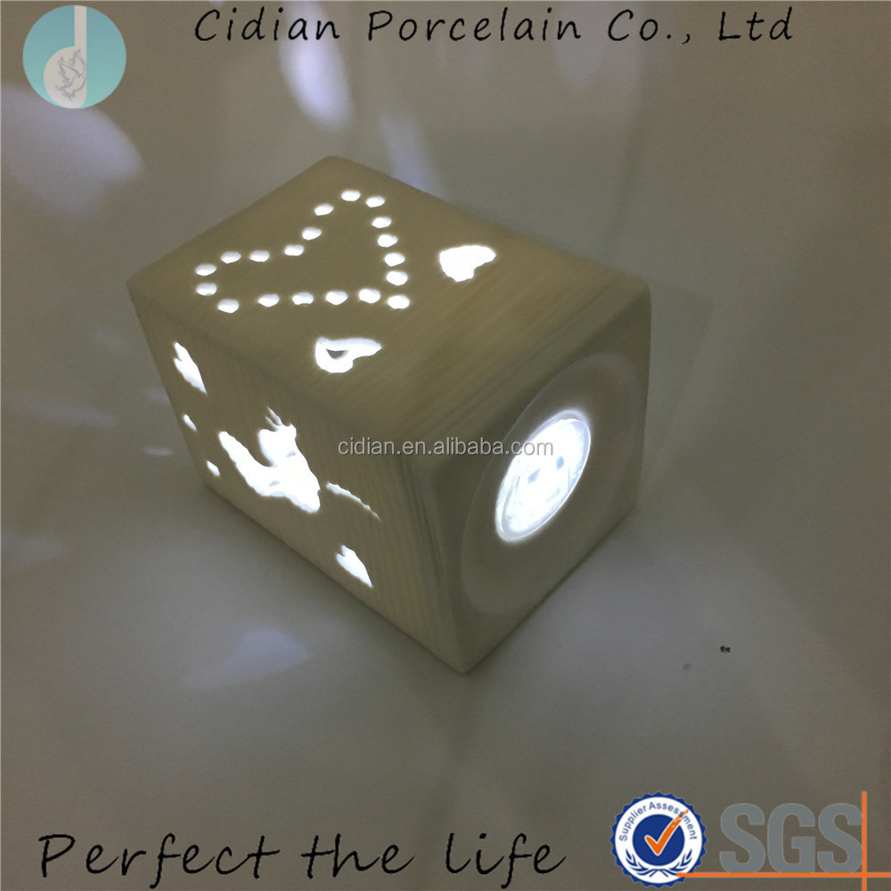 Unique Ceramic Valentine's Day night light for home decoration
