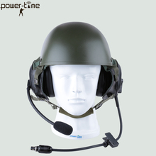 Military dynamic microphone Element Airsoft Comtac Style Tactical helmet Headset PTE-746