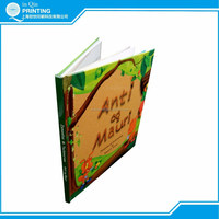 Well designed hardcover binding full color child book printing