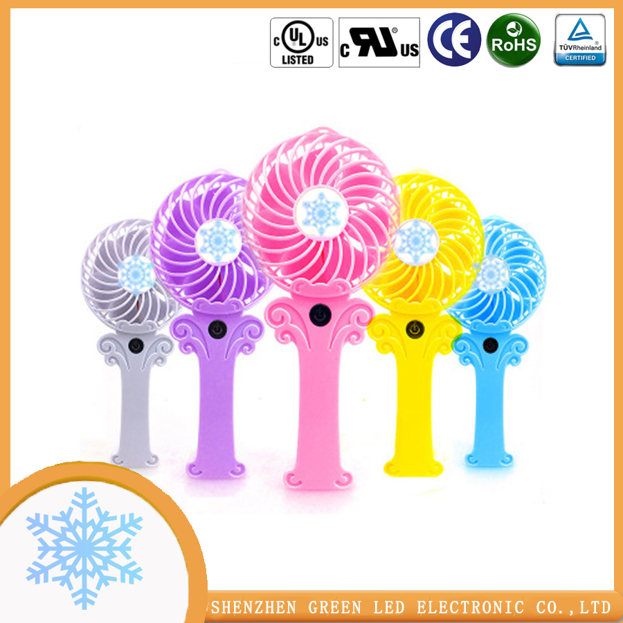 Rechargeable electric fan light small electric fan Shenzhen factory direct sales
