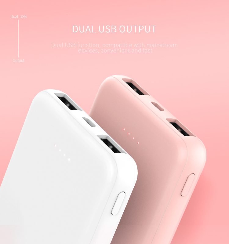 Recci mini mobile phone powerbank power bank 5000mah for corporate gift - ANKUX Tech Co., Ltd | ANKUX.COM