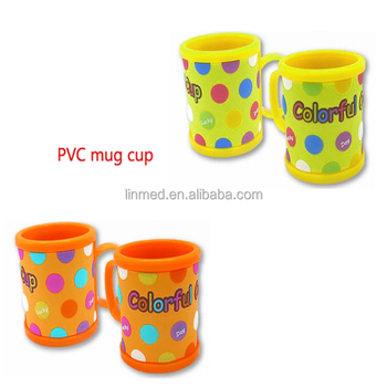 Hot Sale Promotional Customized PVC Rubber Silicon Tea Couple Mug Cup for Gift