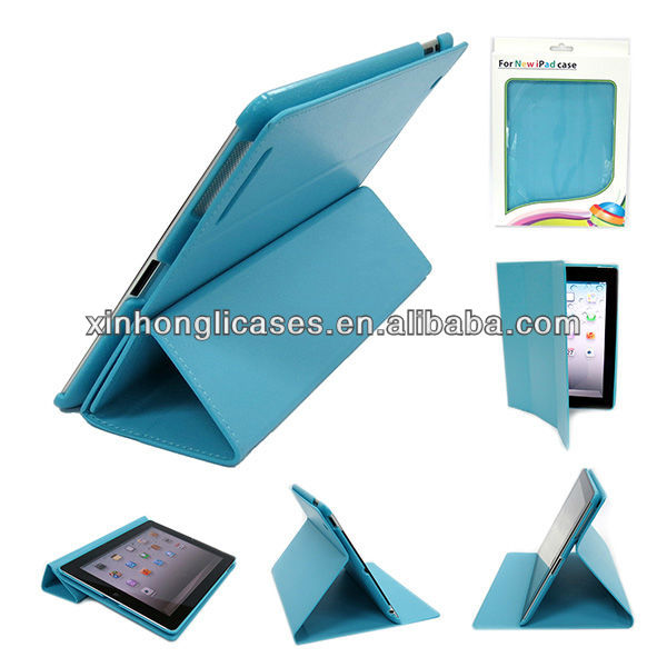 hot selling smart cover for ipad, leather case with stand for ipad
