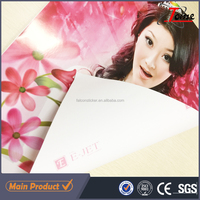 digital printing pvc self adhesive vinyl film , eco solvent advertising material canvas