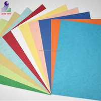 Thick colour bristol paper embossed leather grain cover cardboard paper
