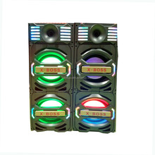 Professional Active DJ Speaker with Dual 10'' Woofer 100-200W Output Disco Sound System With Light DX-028