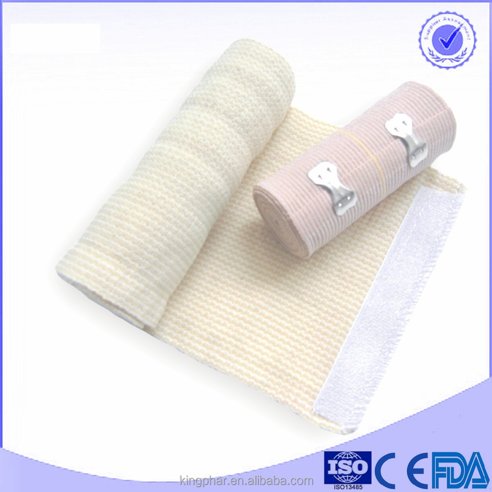 100% Pure Cotton Elastic bandage High Elastic Bandage compression bandaHigh absorbency elastic bandage latest products in market