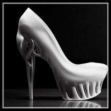 Shoe model by 3d printing service plastic rapid prototype