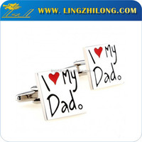 Fashion stainless steel love cufflinks