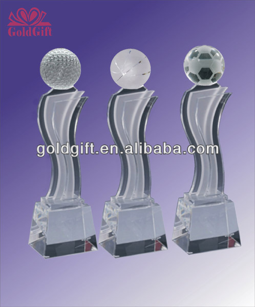 new design crystal trophy award made in china