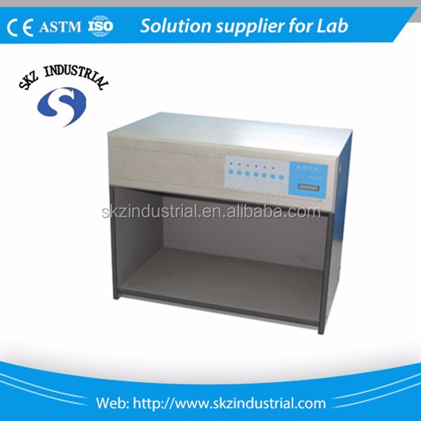 Textile electronic color matching cabinets