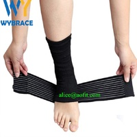 Wybrace Elastic Adjustable Spandex Ankle Brace Support with Straps for Pain Relief