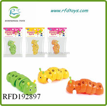 New product colorful mini plastic wind up caterpillar toys