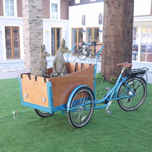 Front hydraulic disc brake 3 wheel electric cargo bike/bicycle for family