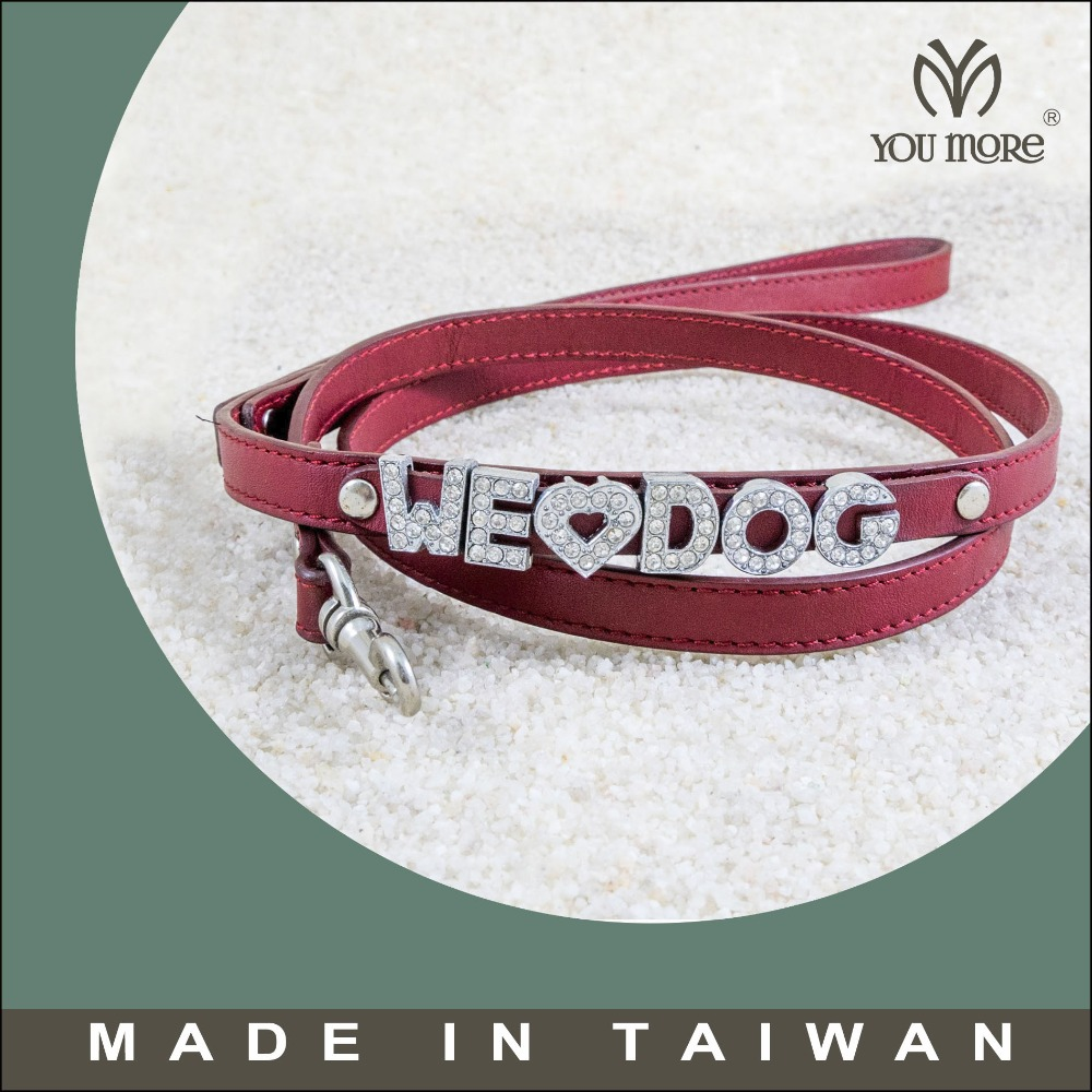 popular red crystal dog leash/pet&cat&dog collar