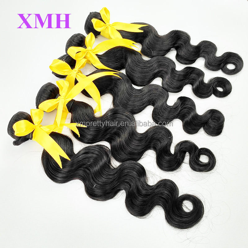 Unprocessed Body Wave 100% Human Hair, Body Wave Virgin Peruvian Hair Weave Extension