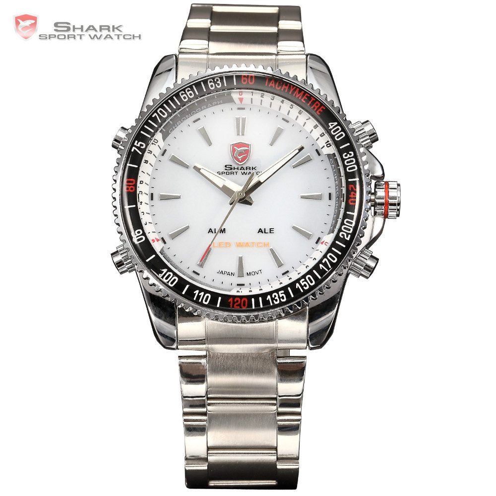 Men Military Analog LCD Digital Waterproof Vogue Sport Quartz watch