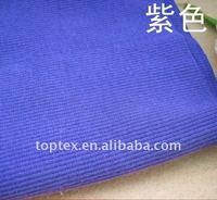 2*2 cotton ribbing stripe knitted fabric for garment