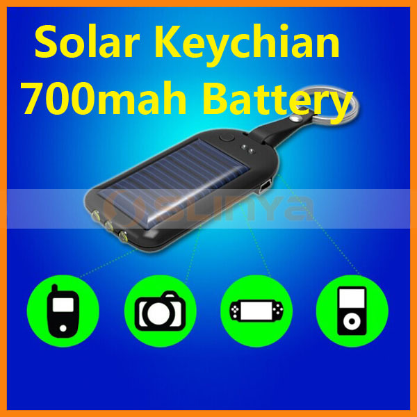700mah Battery 3 LED Keychain External Battery Charger Power Bank for Samsung Galaxy S4