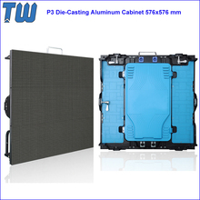 Indoor Rental P3 LED Display Screen Easy Connecting Die-Casting Aluminum Cabinet 576x576 mm
