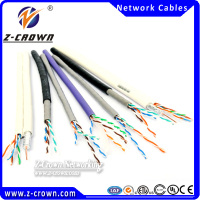Unshield high speed cat5e cable networking colour coding of lan cable