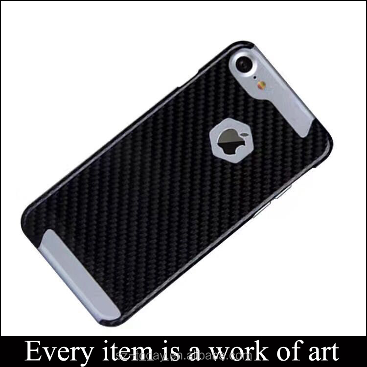 3K Twill Carbon Fiber Mobile Phone Case, Genuine Carbon Fiber Black Cover For 7 Plus