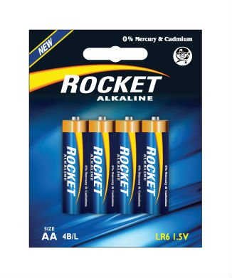 LR6, AA size, 4 Blister packing, Alkaline