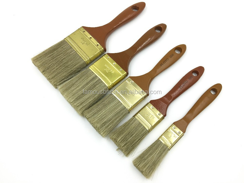600 paint brush, wooden handle with high quality,purdy paint brushes