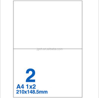 Easy Peel Off Shipping Labels Half Sheet A4 Label Sticker