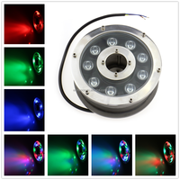 Automatic Change Color 9W RGB led marine spot light,DC 12V IP68 Underwater lamp boat yacht swimming pool foutains Pond light