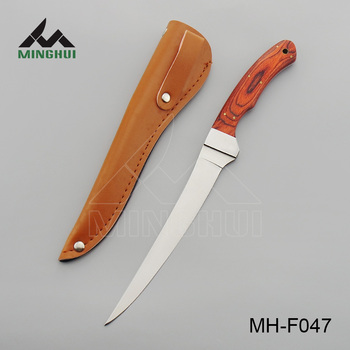 Pakka wood handle fishing fillet knife