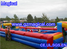 Human Inflatable Football Pitch/popular game Inflatable human football