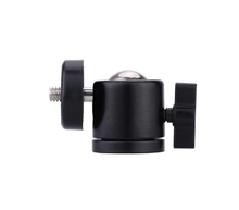 Professional 360 Degree Rotating Camera Mini Tripod Hot Shoe Adapter Metal Ball Head 1/4 Screw Mount For Flash Light Stand