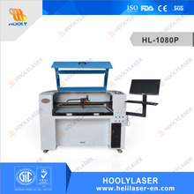 CCD camera 60W Co2 laser cutter for trademark/brand/logo/label/applique with CE ISO FDA SGS