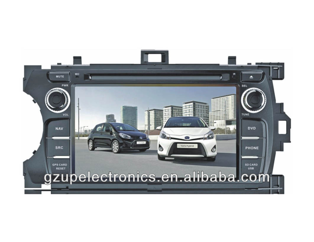 HD resolution 7 inch special car stereo DVD player for toyota Yaris 2012 with GPS BT TV steering wheel control