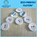 Aodao round colorful 2 hole fabric sewing button for garments