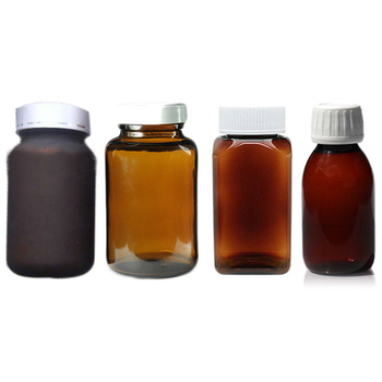 Brown 200ml glass medicine bottles