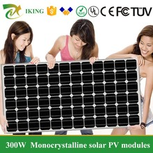 High Power 300W Monocrystalline Solar Panel/High Efficiency Solar Panel 300W With Best Price/A Grade High Eficiency Solar Cell