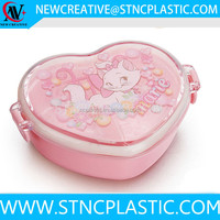 bagasse clamshell Cartoon Marie Cat PINK JAPANESE DESSERT Heart Shaped plastic kid lunch box set