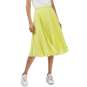 women clothing midi skirt long chiffon pleated maxi skirt
