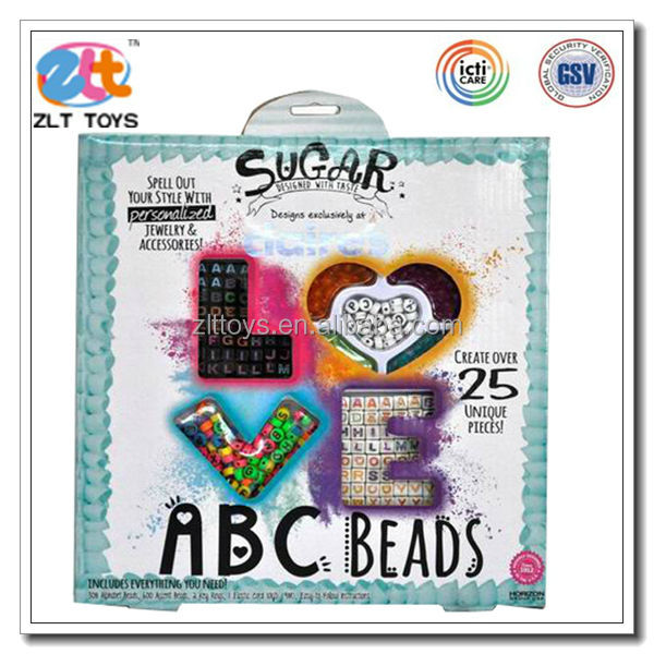 DIY acrylic beads kit Jewelry Findings Type make your own jewelry kit with ICTI