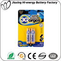 High capacity dry battery Alkaline aa lr6 am3 battery