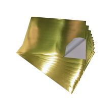 Label Material Self Adhesive Metallized Golden PET Film