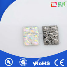 2014 fashion resin flat back crystal stone work in dress