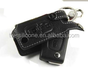Made in China supplier rubber leather key cover