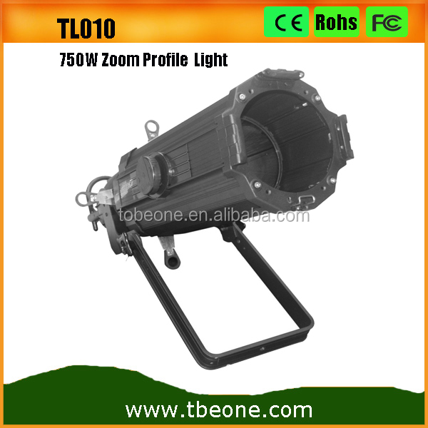 Guangzhou Factory Price 750W Ellipsoidal Stage Lighting 750W Zoom Halogen Profile Spot Light